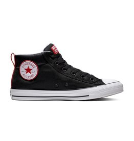 CONVERSE CHUCK TAYLOR ALL STAR STREET MID BLACK/WHITE/ENAMEL RED C998BR-163404C