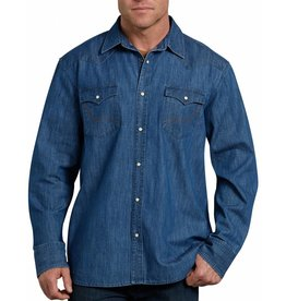 DICKIES Long Sleeve Denim Western Shirt WL535