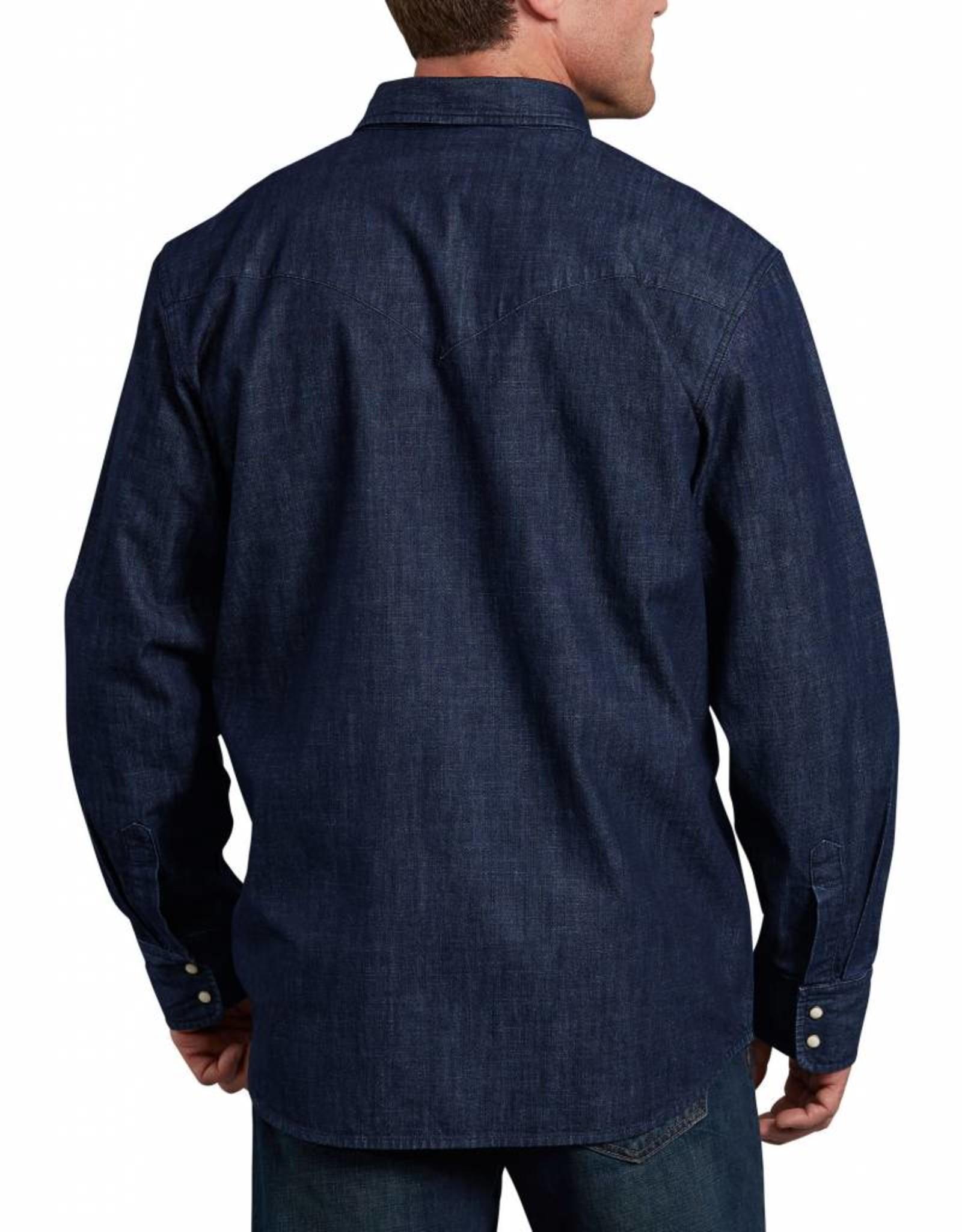 DICKIES Long Sleeve Denim Western Shirt WL535