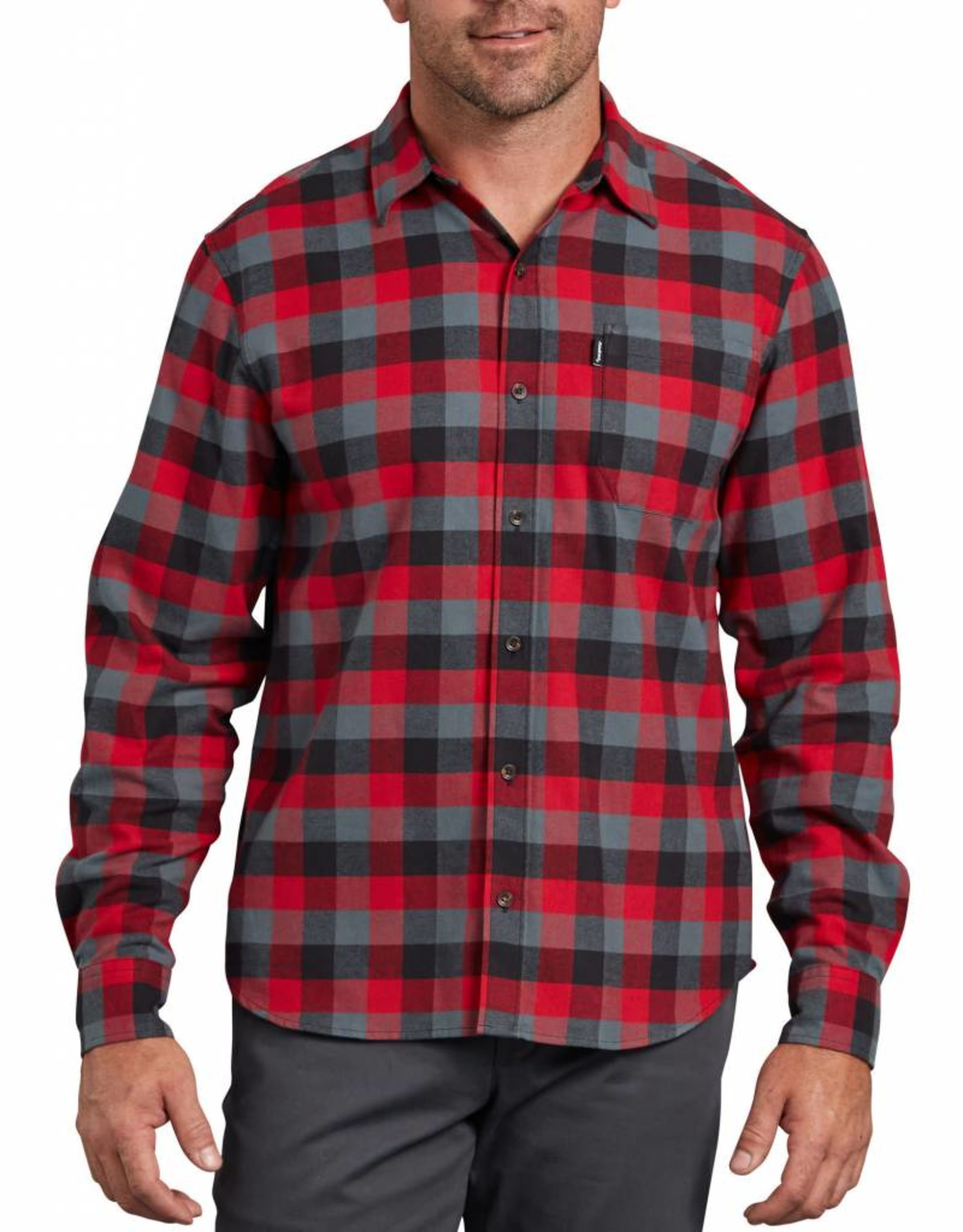 DICKIES Long Sleeve Flannel Shirt Modern Fit WL701