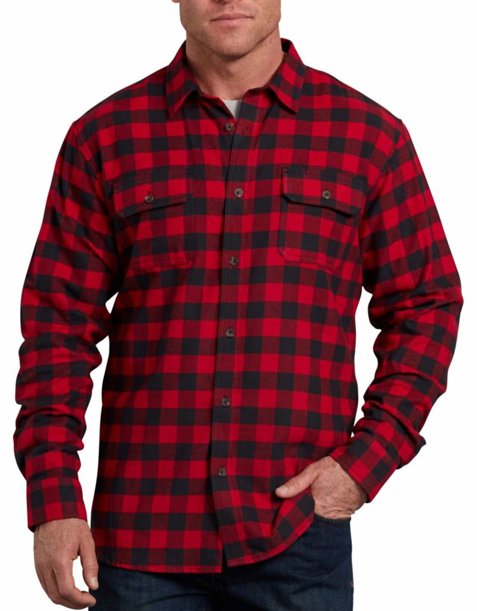 DICKIES Long Sleeve Flannel Shirt Relaxed Fit WL601