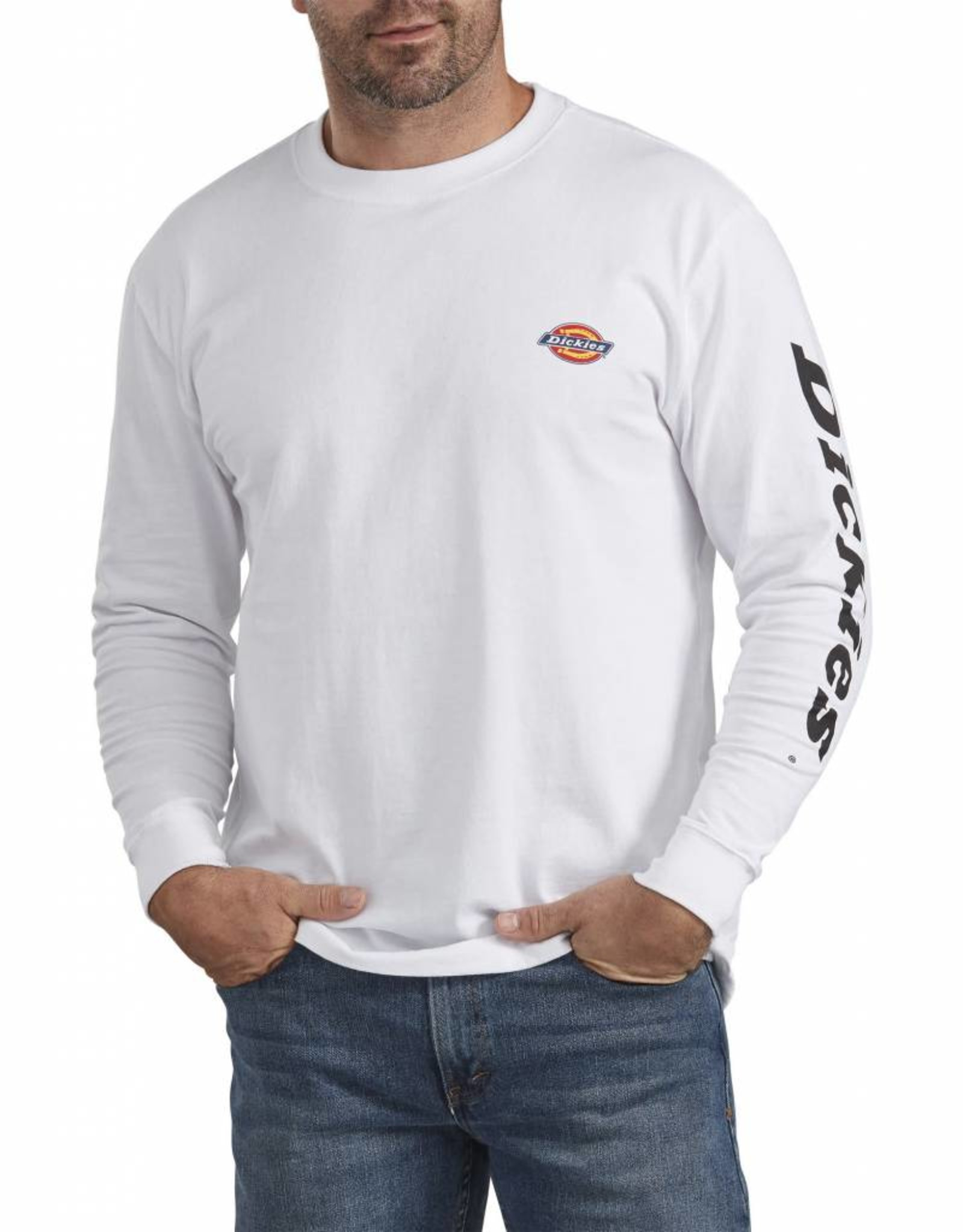 DICKIES Long Sleeve Relaxed Fit Graphic Tee (Small Logo) WL469