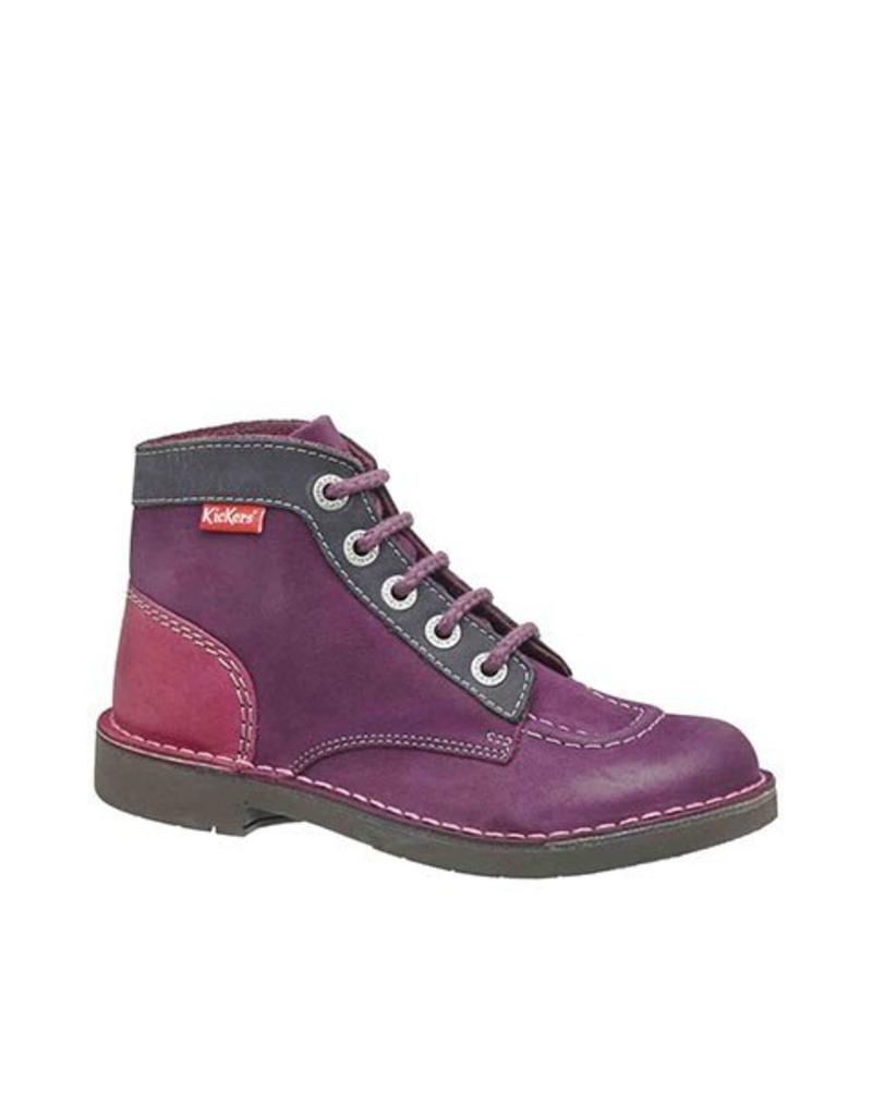 KICKERS KICK COL BURGUNDY FUSHIA ORANGE K1685BF
