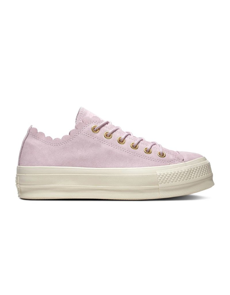 CONVERSE CHUCK TAYLOR ALL STAR LIFT OX SUEDE PINK FOAM/GOLD/EGRET C13PPF-563500C