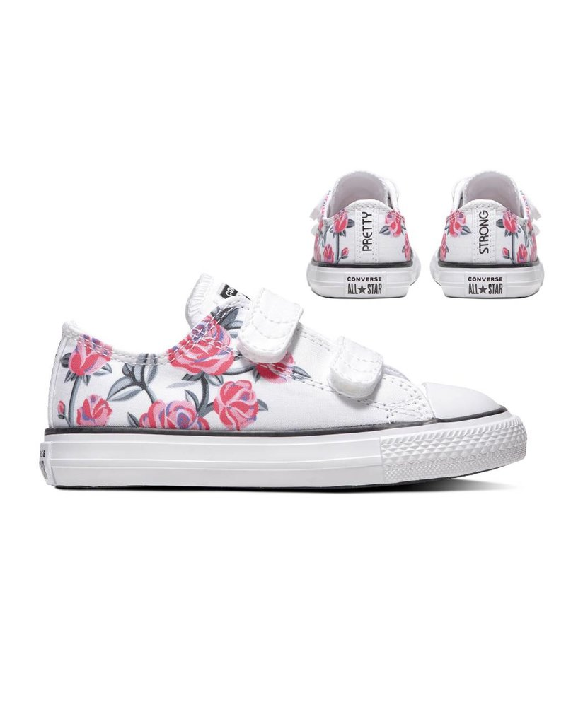 CONVERSE CHUCK TAYLOR ALL STAR 2V OX WHITE/RACER PINK/BLACK CKVW-763545C