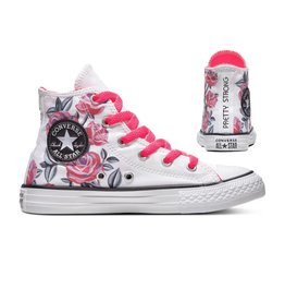 CONVERSE CHUCK TAYLOR ALL STAR HI WHITE/RACER PINK/BLACK CZRP-663623C