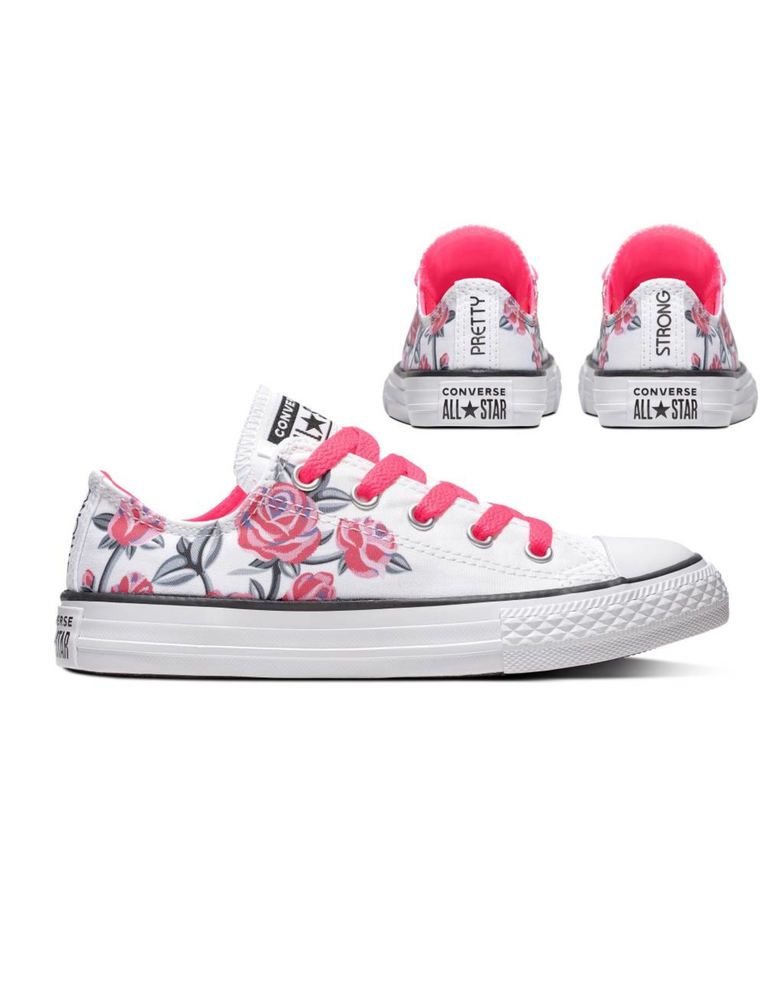 CONVERSE CHUCK TAYLOR ALL STAR OX WHITE/RACER PINK/BLACK CZRPJ-663624C