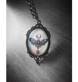 CURIOLOGY - Sacred Moth Cameo Necklace