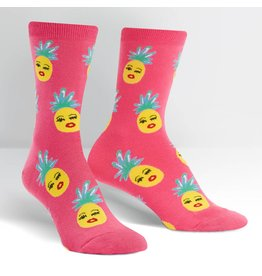 SOCK IT TO ME - Women's Sassy Pineapples Crew Socks