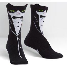 SOCK IT TO ME - Women's Tuxedo Cat Crew Socks