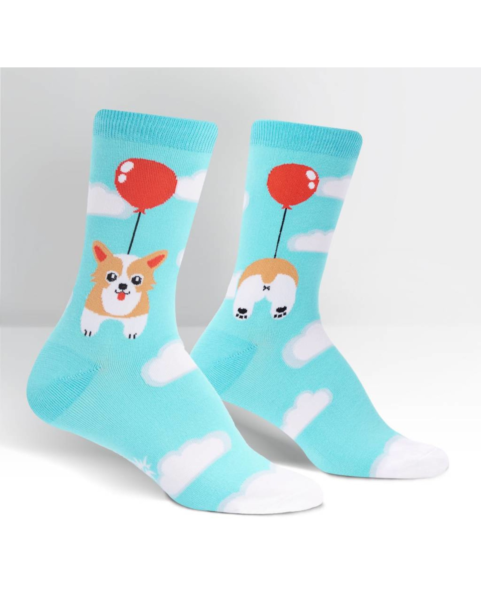 SOCK IT TO ME - Women's Pup, Pup and Away Crew Socks