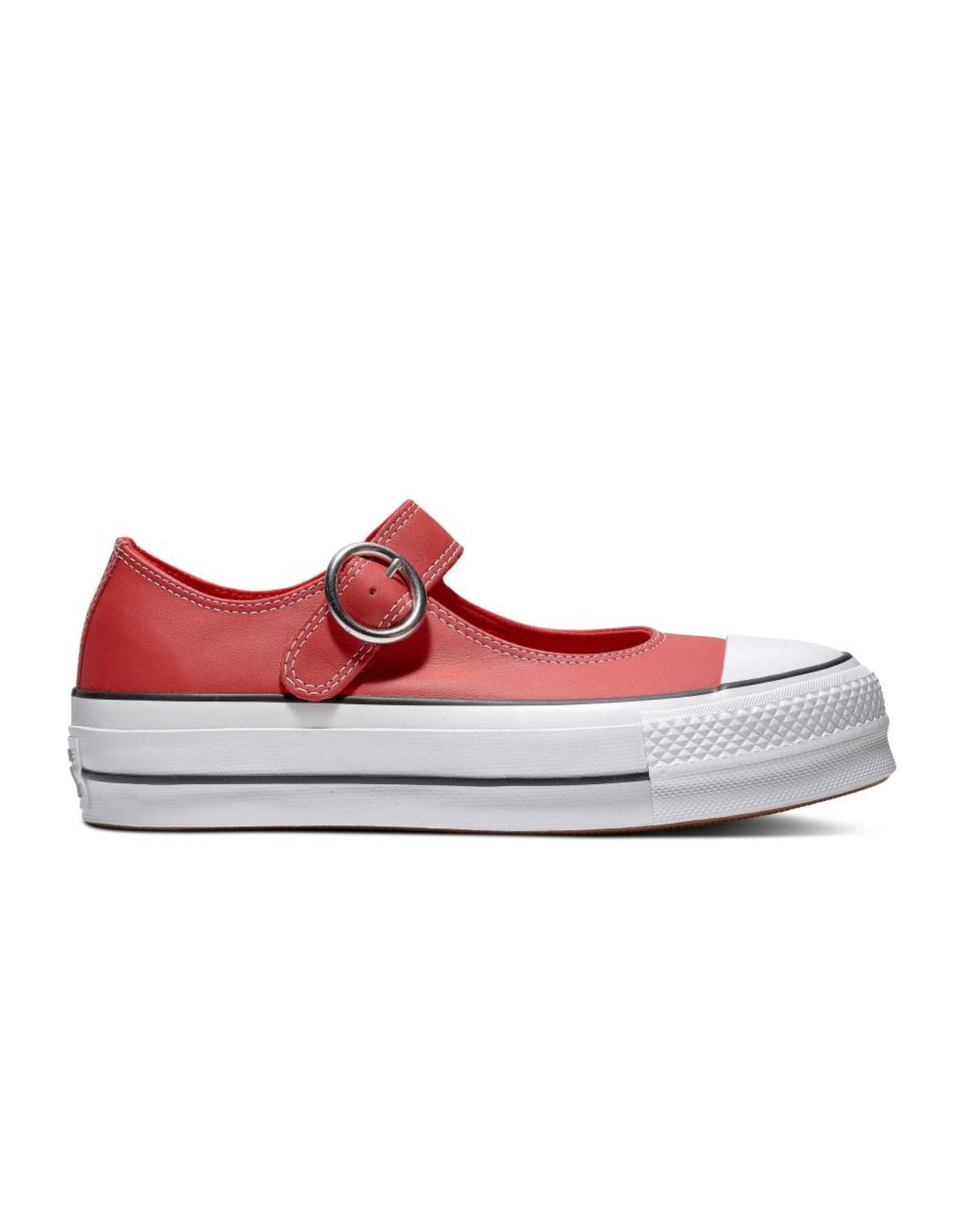 CONVERSE CHUCK TAYLOR ALL STAR MARY JANE OX ENAMEL CUIR RED/BLACK/WHITE C13MJR-563502C