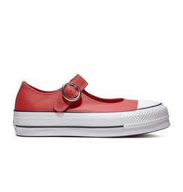 CONVERSE CHUCK TAYLOR ALL STAR MARY JANE OX ENAMEL CUIR RED/BLACK/WHITE C13MJR-563502C