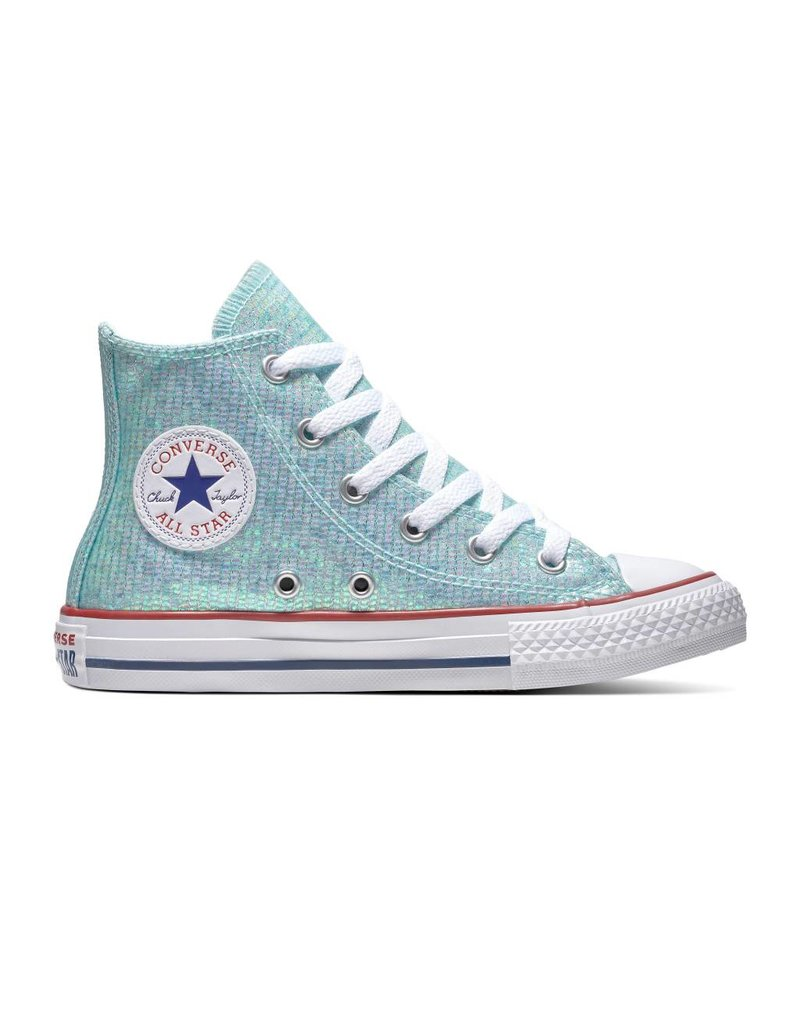 CONVERSE CHUCK TAYLOR ALL STAR HI TEAL TINT/ENAMEL RED/WHITE CZTE-663626C