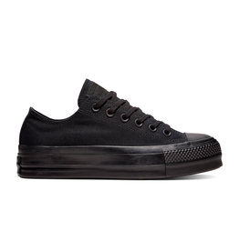 CONVERSE CHUCK TAYLOR ALL STAR CLEAN LIFT OX BLACK/BLACK/BLACK C12MO - 562926C
