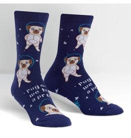 SOCK IT TO ME - Women's Pugston, We Have a Problem Crew Socks