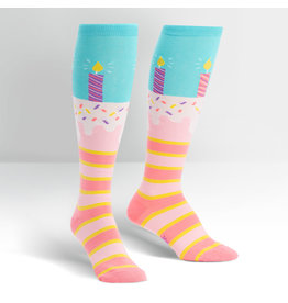SOCK IT TO ME - Women's It's My Birthday Knee High Funky Socks