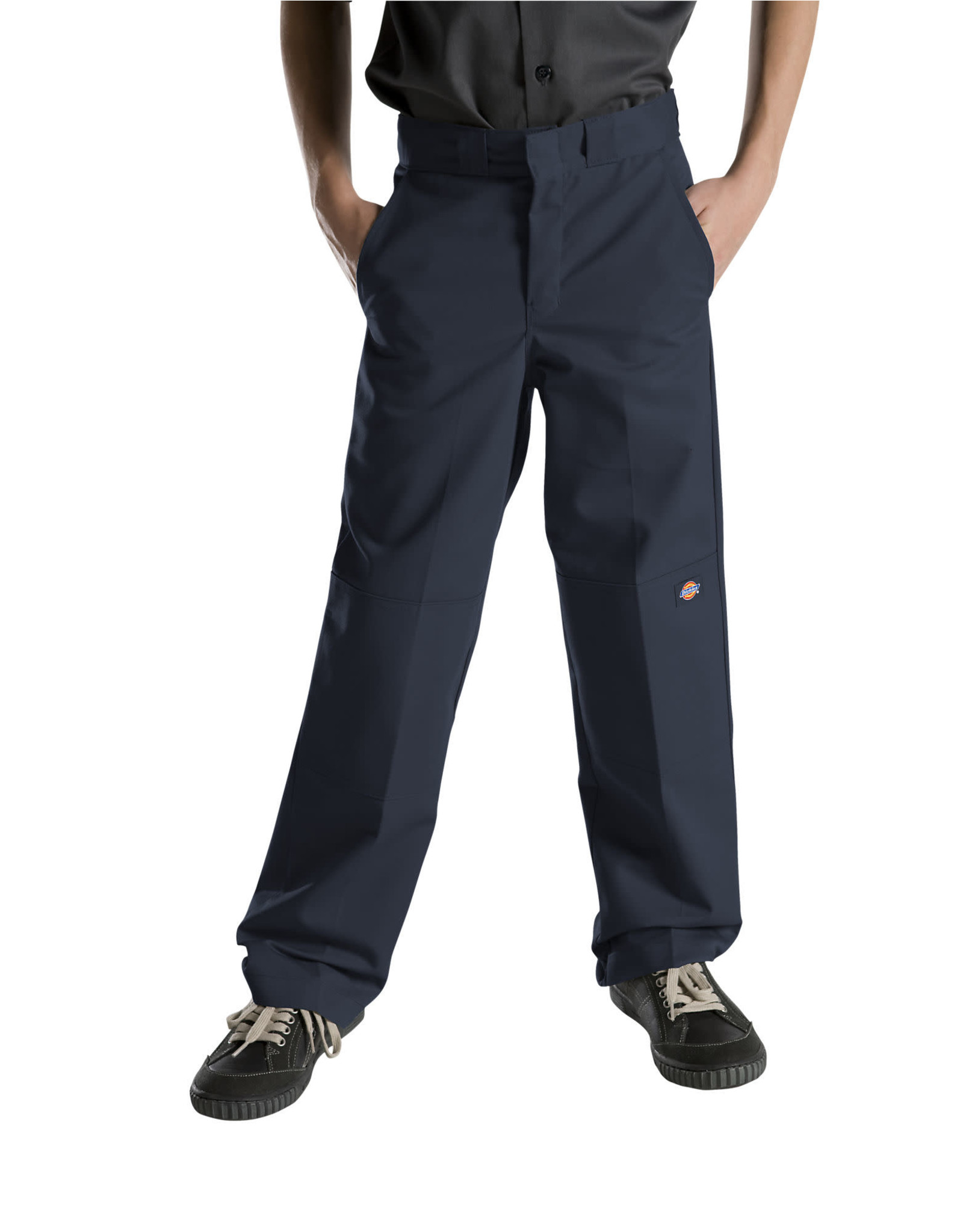 DICKIES Boys' FlexWaist Relaxed Fit Straight Leg Double Knee Pants QP200