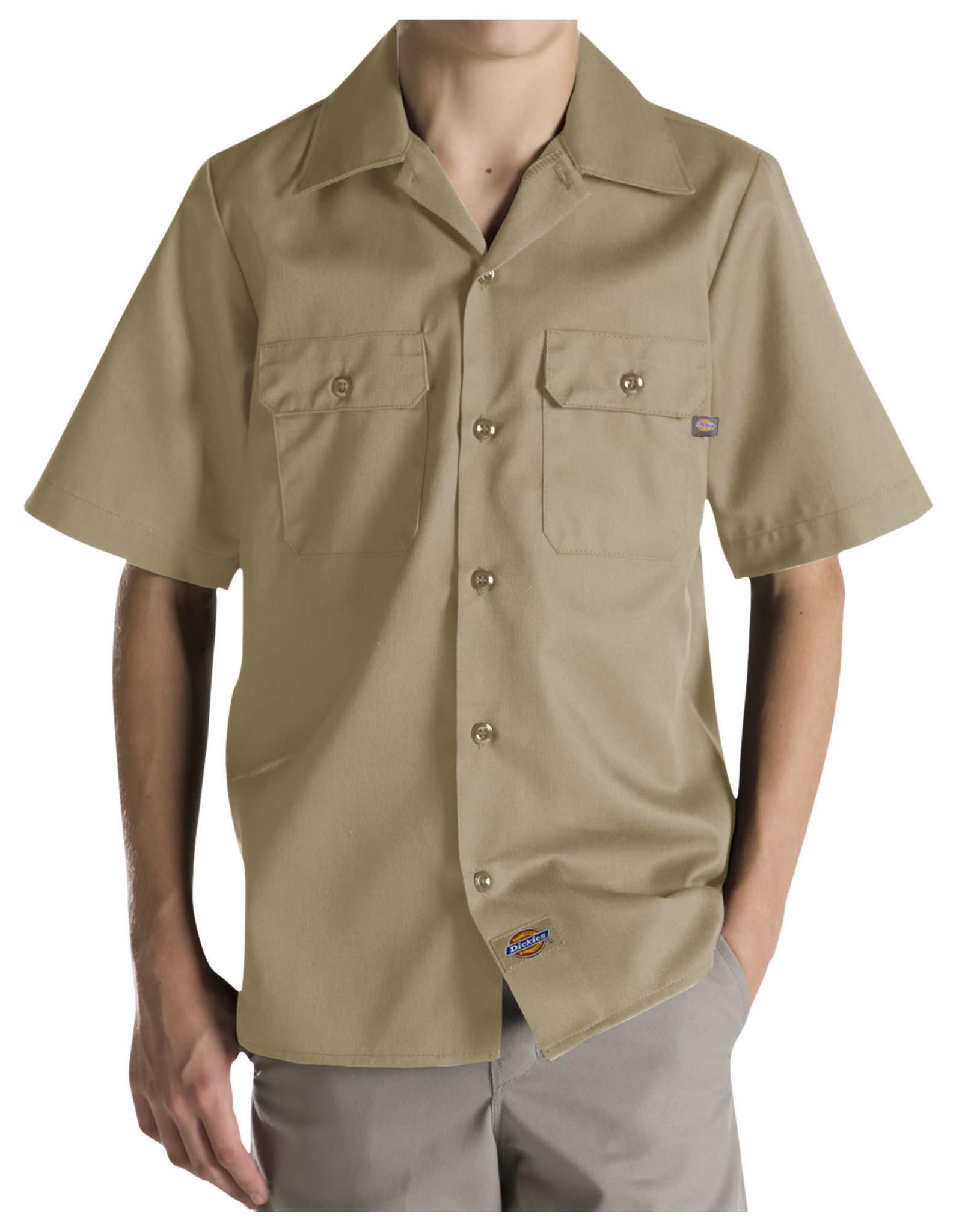 DICKIES Boys' Twill Short Sleeve Shirt QS201