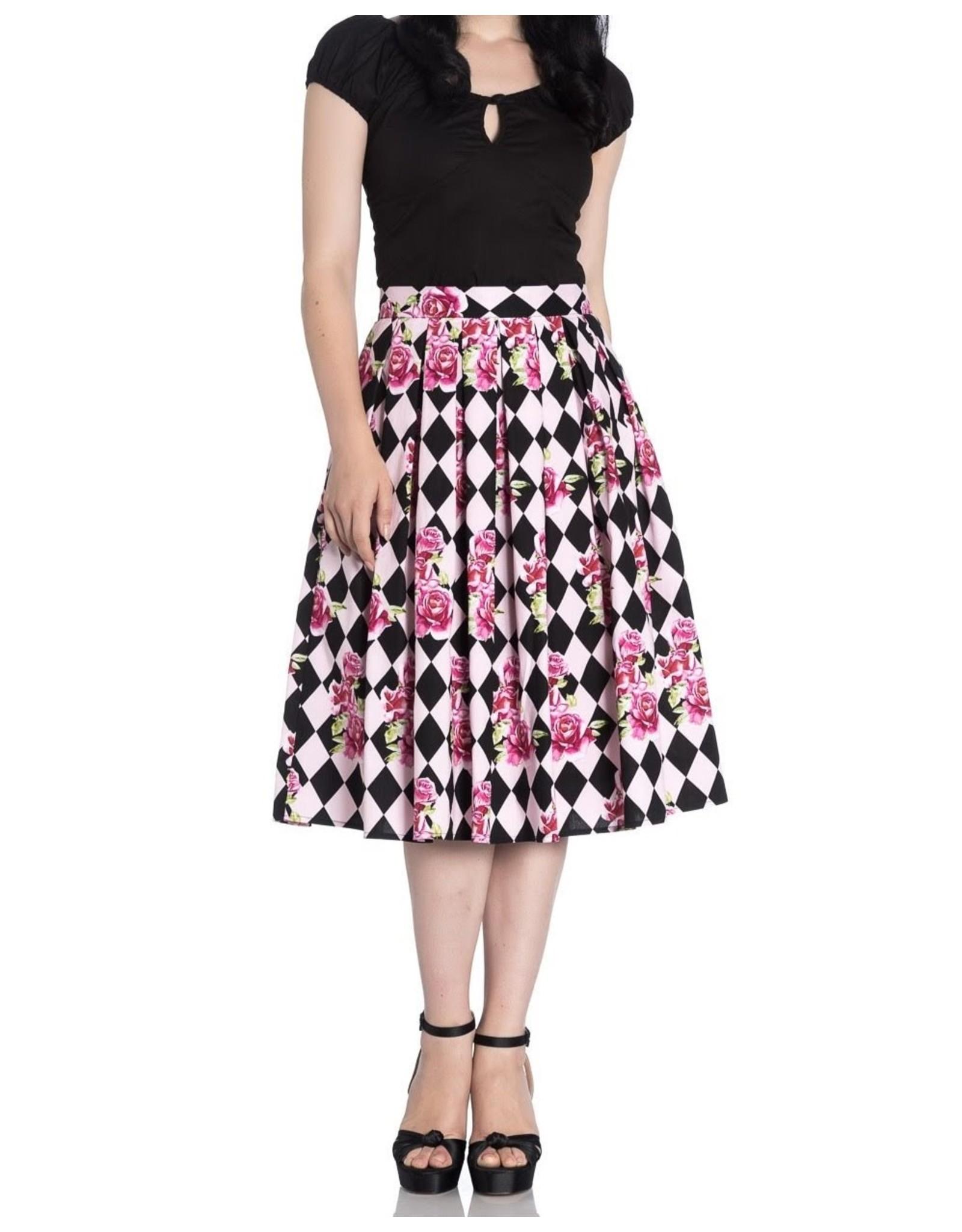 HELL BUNNY - Harlequin 50's Skirt