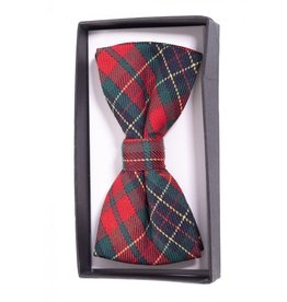 BANNED - Ribbon Dance Red Tartan Bow Tie