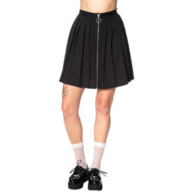 BANNED - Urban Vamp Black Pleats Skirt