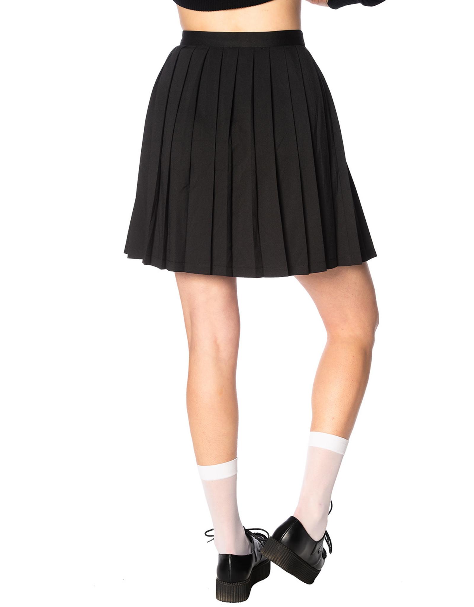 BANNED - Urban Vamp Black Pleats Skirt