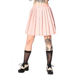 BANNED - Urban Vamp Pink Pleats Skirt