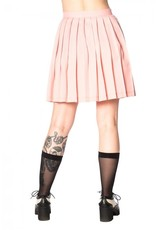 BANNED - Urban Vamp Pink Pleats Skirt