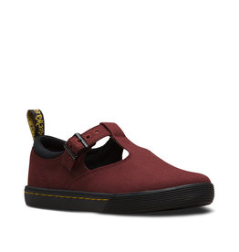 DR. MARTENS WINONA OLD OXBLOOD CANVAS & BLACK FINE CANVAS M87OX-R24454611