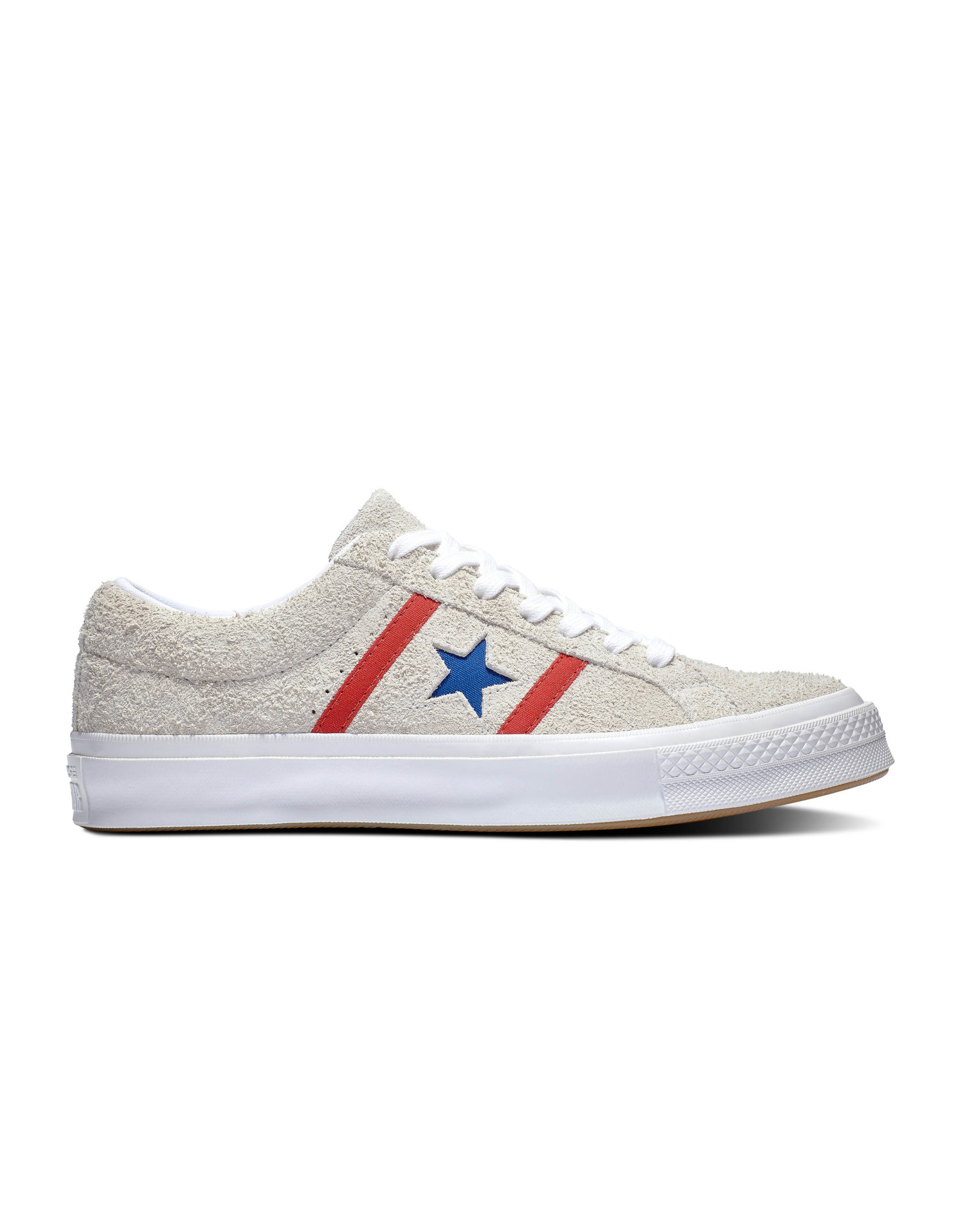 CONVERSE ONE STAR ACADEMY OX suède WHITE/ENAMEL RED C987WR-164390C