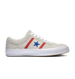 CONVERSE ONE STAR ACADEMY OX WHITE/ENAMEL RED C987WR-164390C