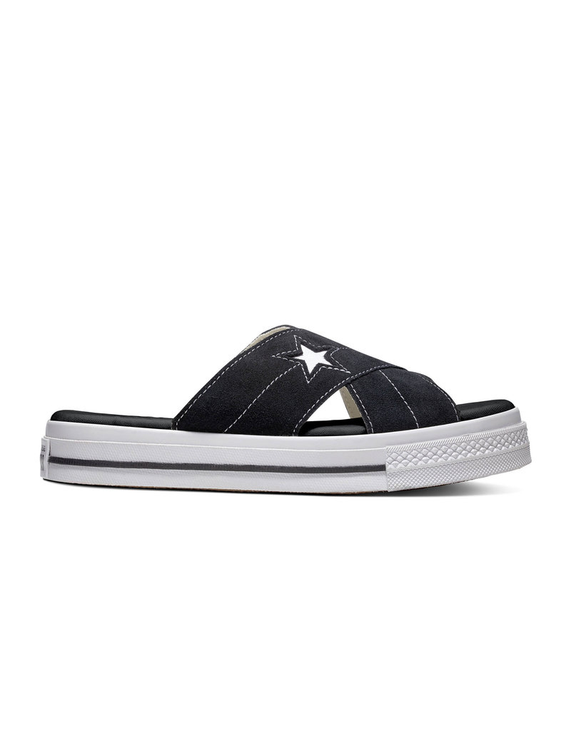 CONVERSE ONE STAR SANDAL SLIP BLACK/EGRET/WHITE C987SB-564143C