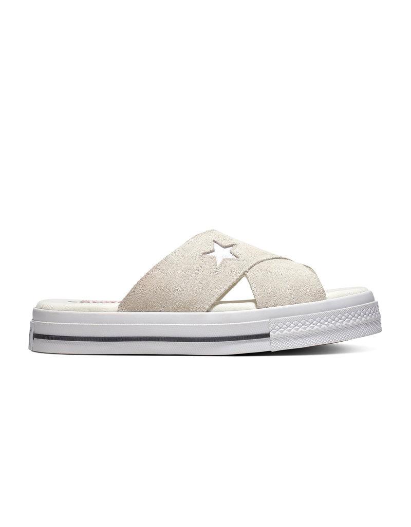 CONVERSE ONE STAR SANDAL SLIP EGRET/EGRET/WHITE C987SE-564144C