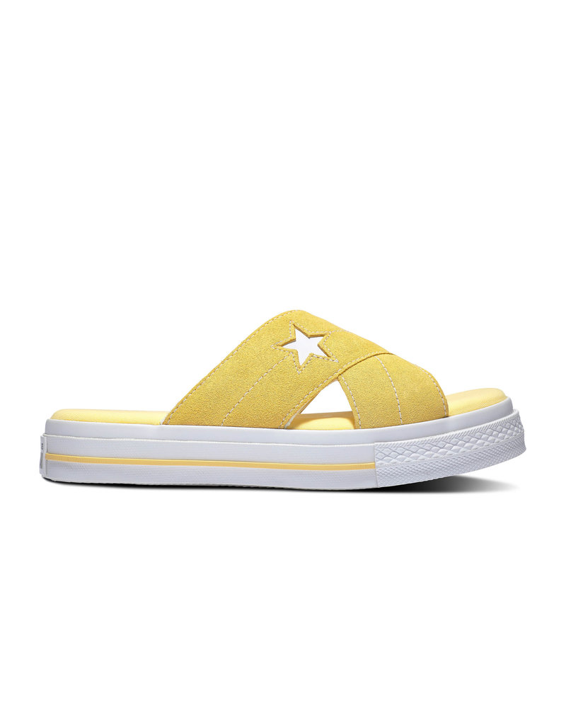 CONVERSE ONE STAR SANDAL SLIP BUTTER YELLOW/EGRET C987SY-564145C