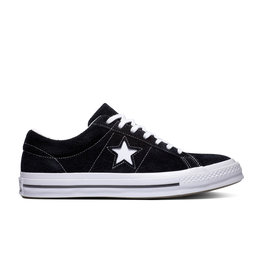 CONVERSE ONE STAR OX SUEDE BLACK/WHITE/WHITE CS987B-158369C