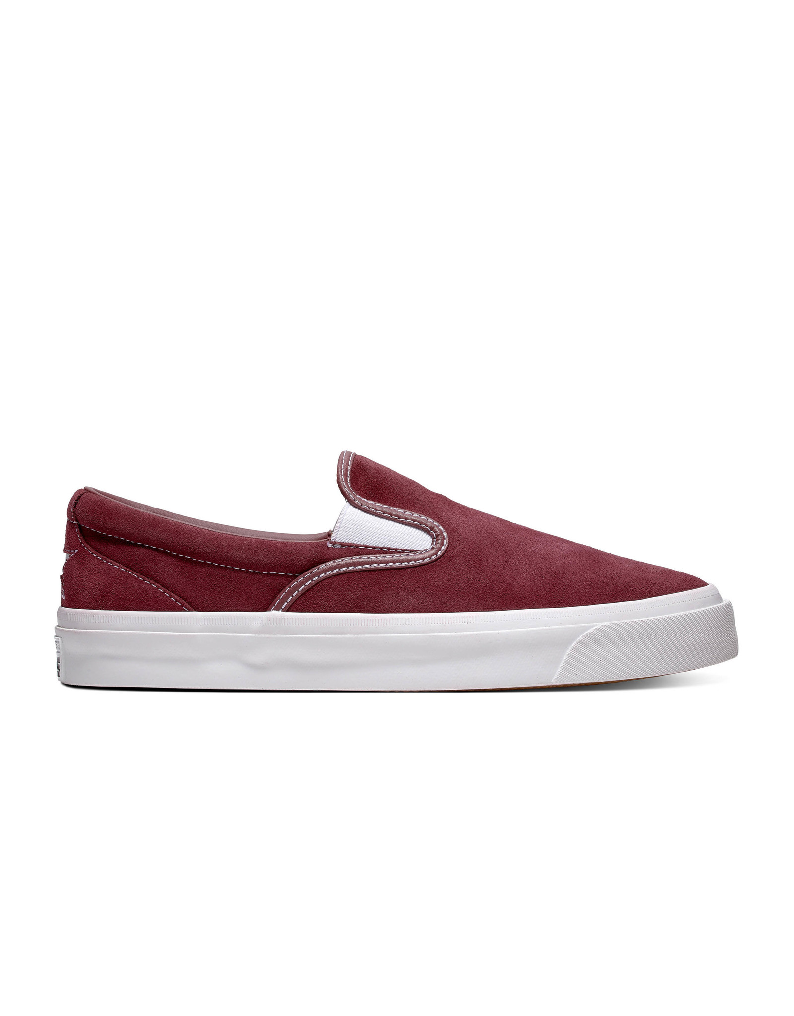CONVERSE ONE STAR CC SLIP PRO SUEDE DARK BURGUNDY/WHITE CS987SPD-164157C