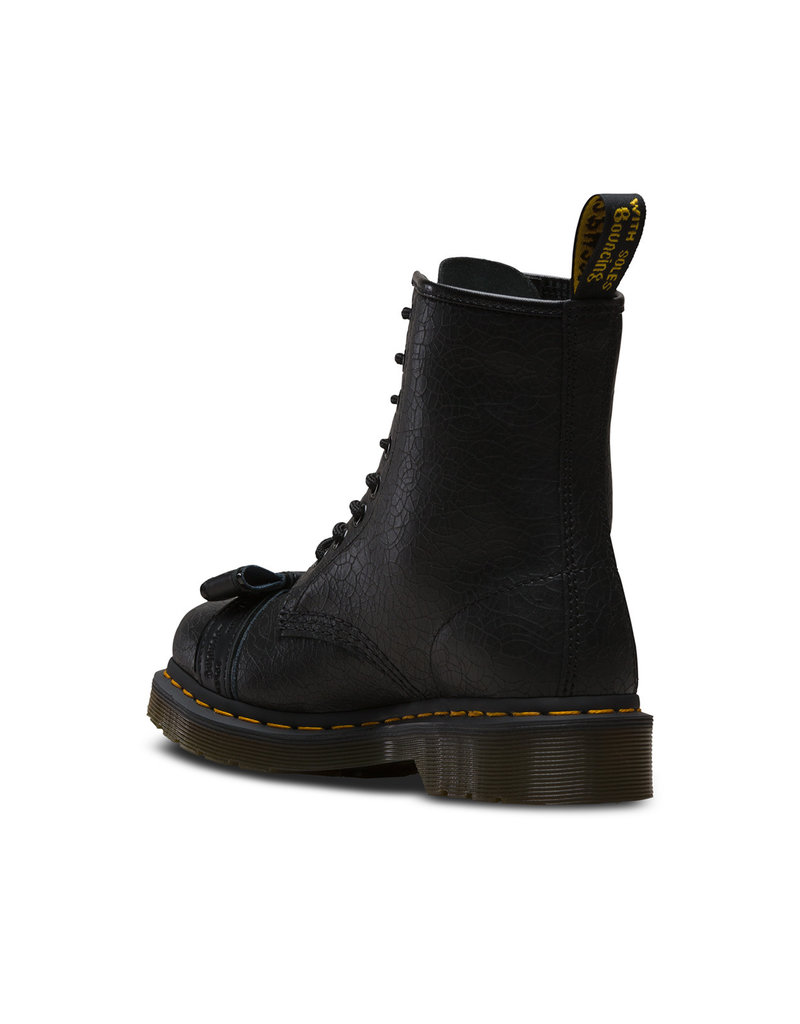 DR. MARTENS 1460 CRACKLE & BLACK PATENT LAMPER & BLACK SMOOTH 815CB-R24462033