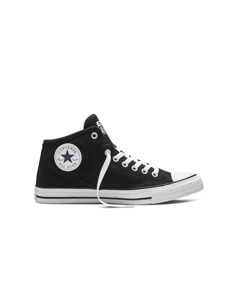 CONVERSE Chuck Taylor All Star  HIGH STREET HI BLACK BLACK WHITE C698BB-151041C