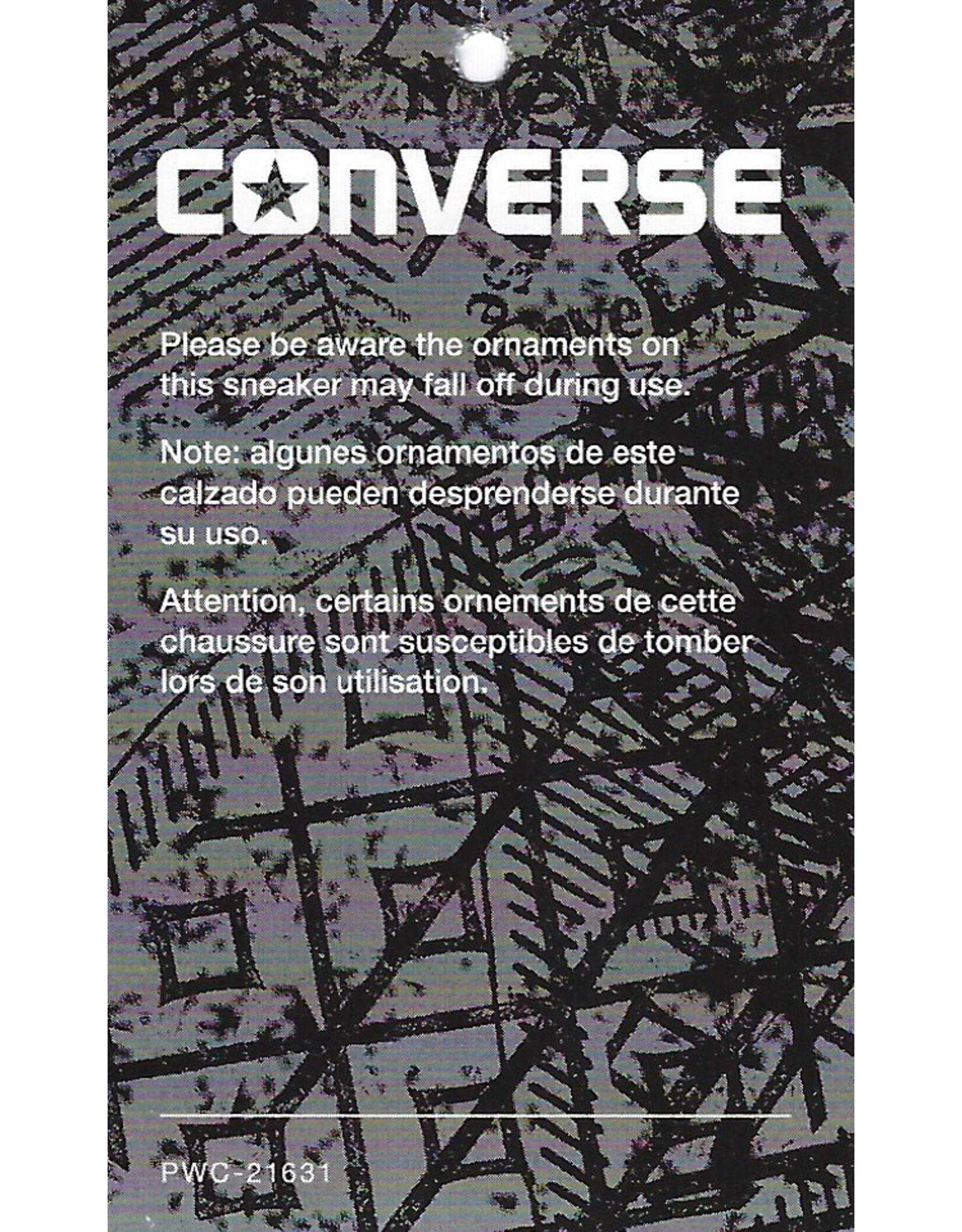 CONVERSE CHUCK TAYLOR HI METALLIC GUNMETAL/WHITE/BLACK C16MIL-153177C