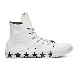 CONVERSE CHUCK TAYLOR AS HI MILEY CYRUS LEATHER WHITE/BLACK/WHITE CC19MCW-563719C