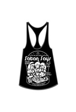 "TOO FAST - ""Satan Says"" Jersey Scoop Neck Loose Fit Racerback Tank Top"
