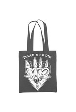 TOO FAST - Touch Me & Die Brass Knuckles Tattoo Tote Bag