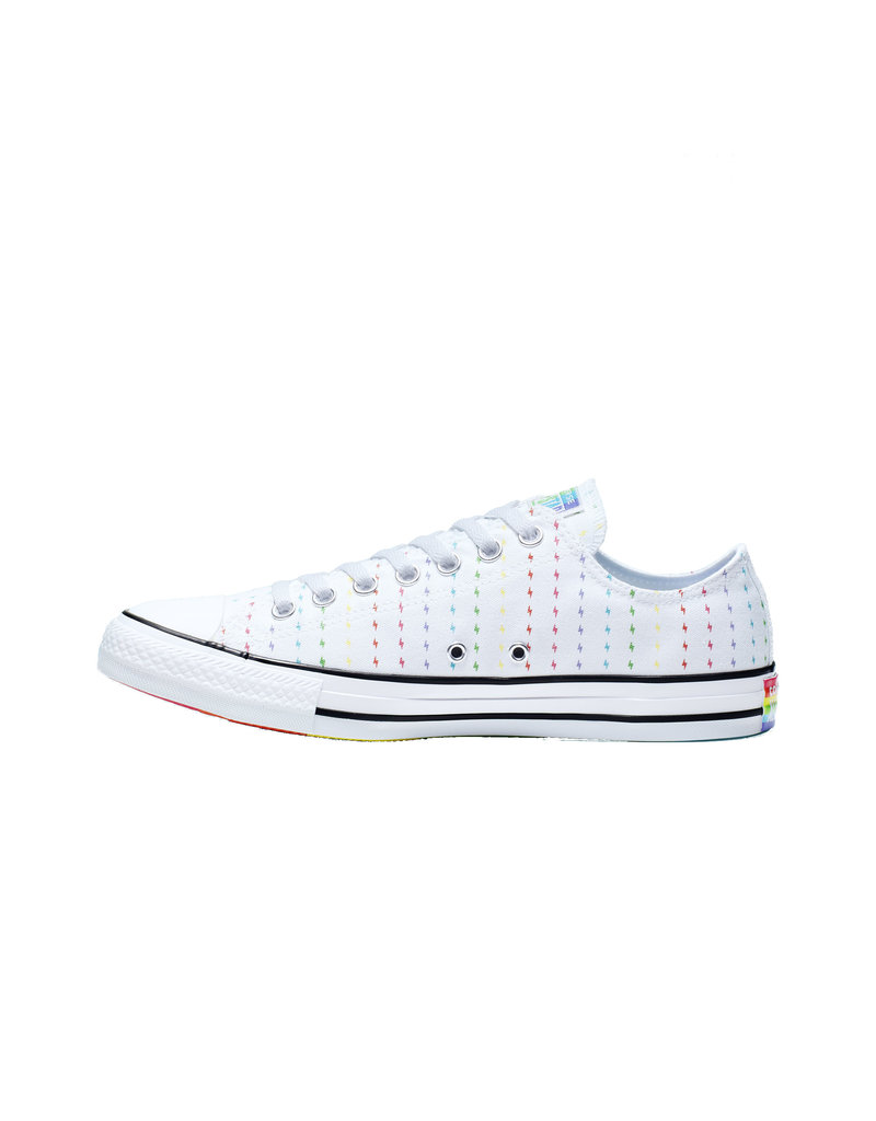 CONVERSE CHUCK TAYLOR AS OX WHITE/MULTI/BLACK PRIDE C13WB-165717C