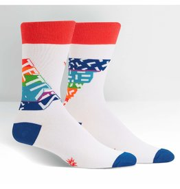 SOCK IT TO ME - Men's Tetris Retro Logo Crew Socks