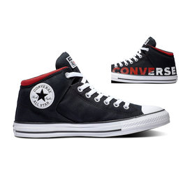 CONVERSE CHUCK TAYLOR ALL STAR HIGH STREET HI BLACK/WHITE/ENAMEL C998CON-165433C