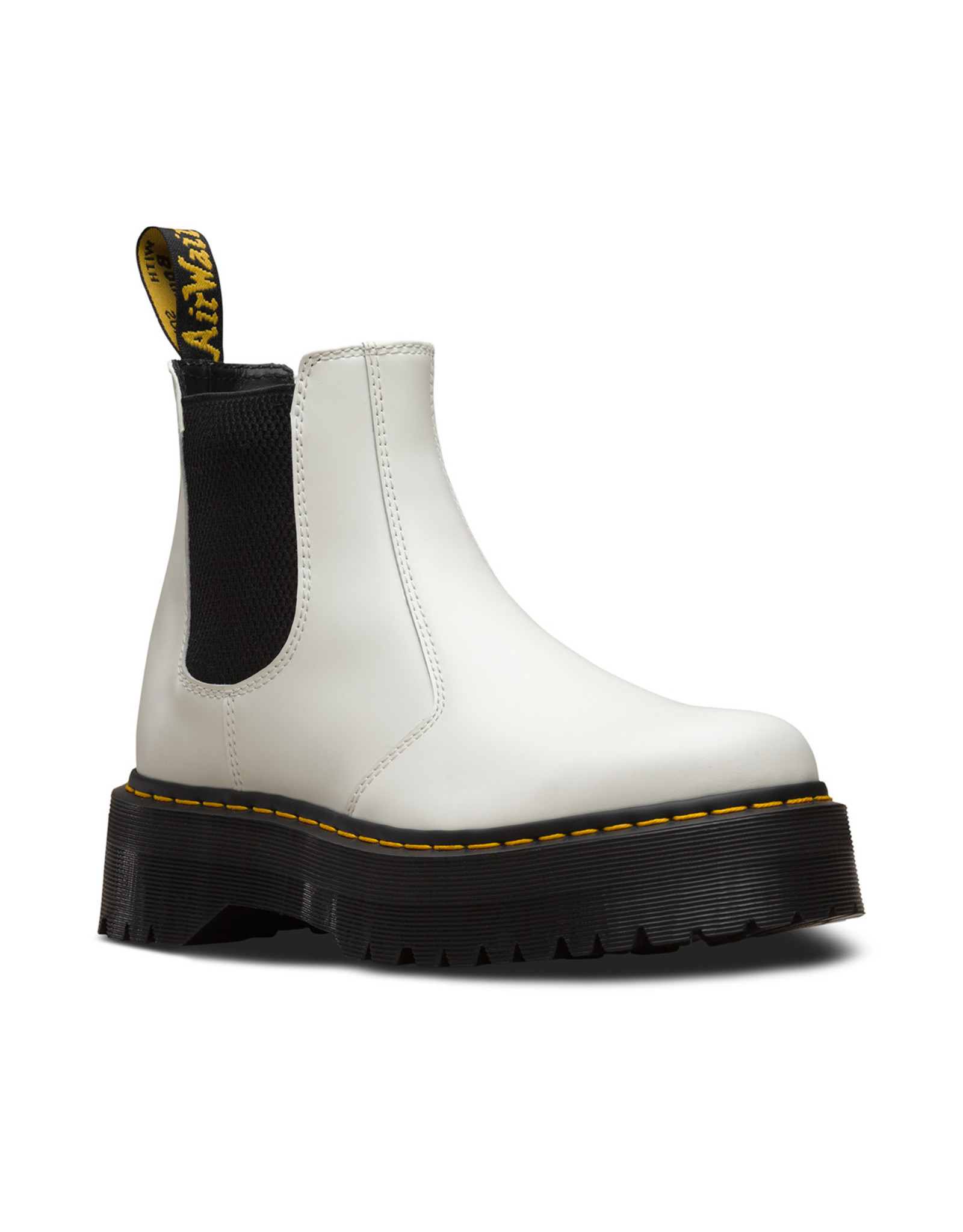 DR. MARTENS 2976 QUAD WHITE POLISHED SMOOTH E4WX-R25055100