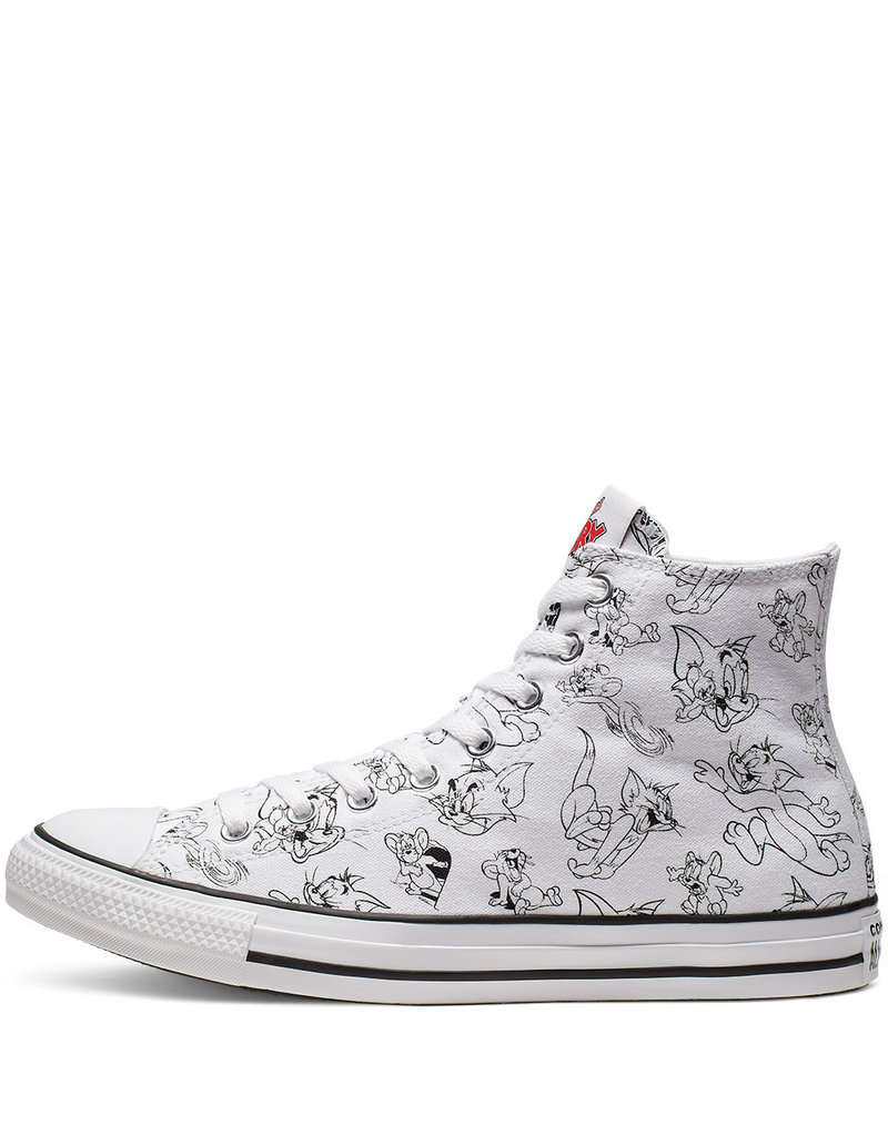 CONVERSE CHUCK TAYLOR HI WHITE/MULTI/RED C19TOM-165736C