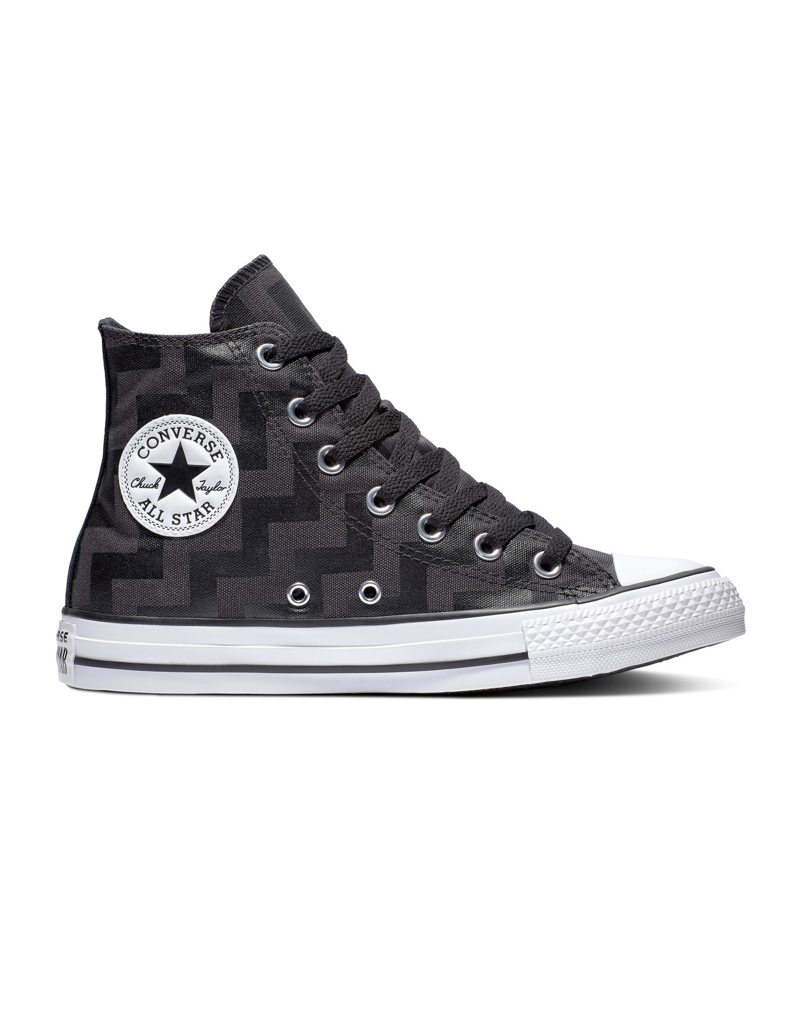CONVERSE CHUCK TAYLOR ALL STAR HI BLACK/ALMOST BLACK/WHITE C19SAL-565212C