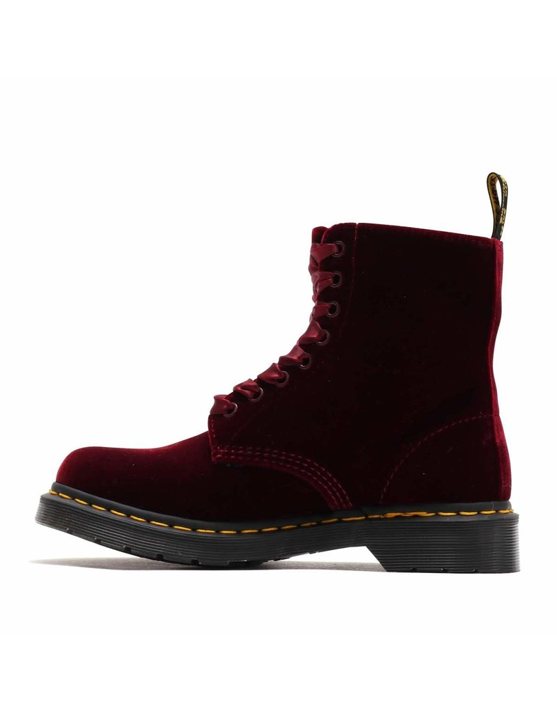 DR. MARTENS 1460 PASCAL VELVET CHERRY RED ZE YOU VELVET 815VCR-R24329600